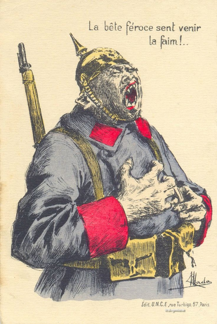 ww1 anti german propaganda - Google Search | WW1 ...