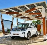 BMW Unveils Solar-Powered Bamboo Carport That Charges Electric Vehicles With the Sun