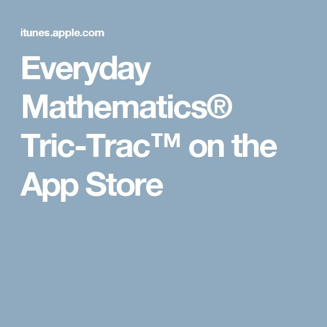 Everyday Mathematics® Tric-Trac™ on the App Store