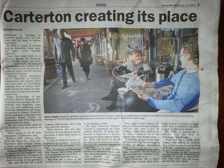 Carterton Place Making & Farmers' Market www.cartertonmarket.co.nz