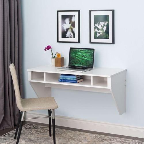 White Space Saver Laptop Tablet Computer Desk Wall-Mount at any Height