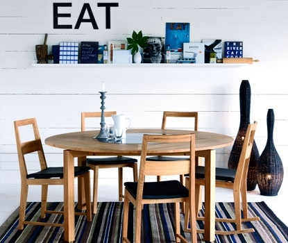 clever way to add detail to eating area