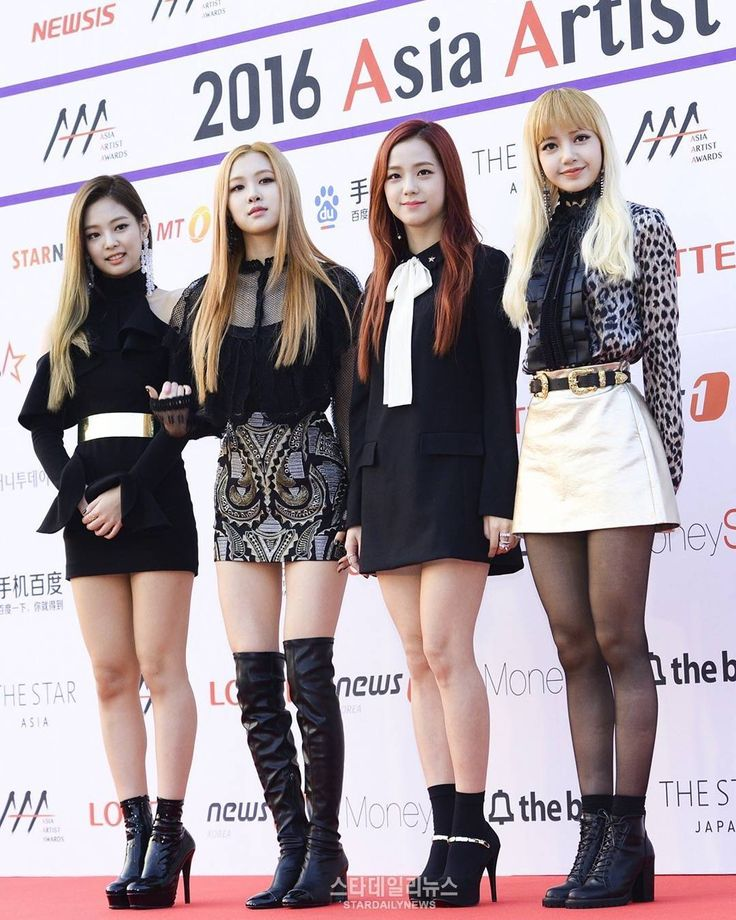 Blackpink. I love how all of them are wearing heels and then there is Lisa cuz that girl has got height.