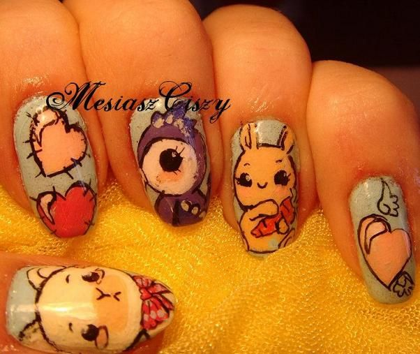 Character Design Nail Art : Best images about character nails and pop art on