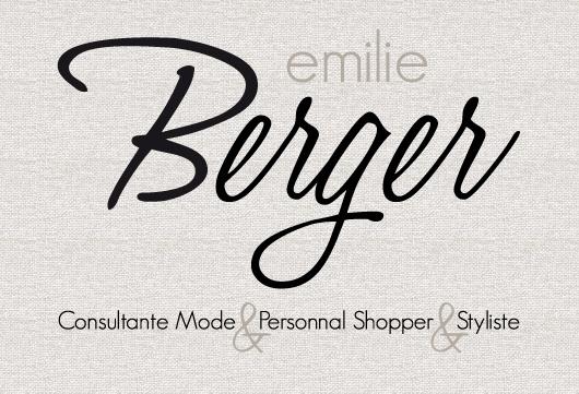 // création de logo pour la personnal shopper Emilie Berger //