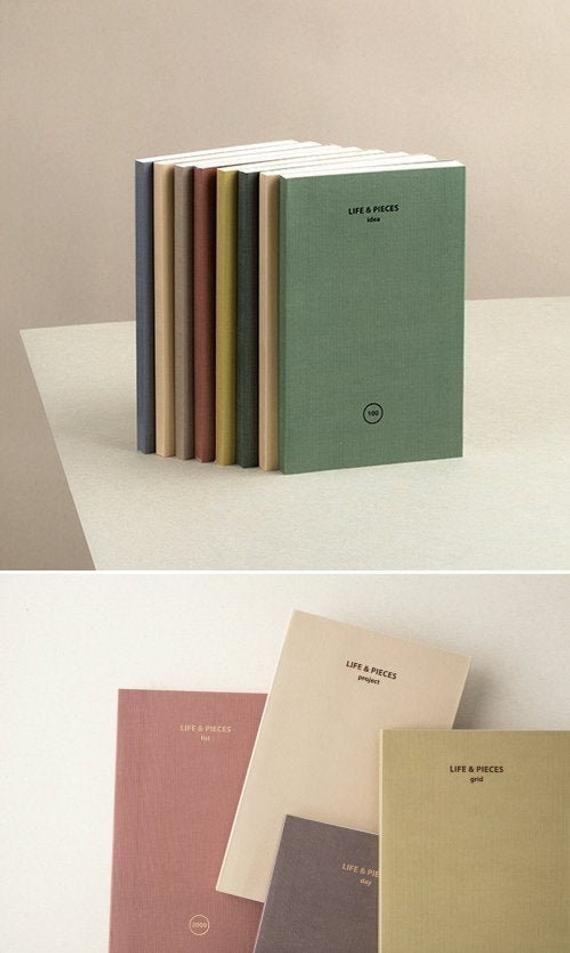 Idea Notebook S 6color Grid Lined Project Etsy Cover Design Cool Dissertation Binding Manchester