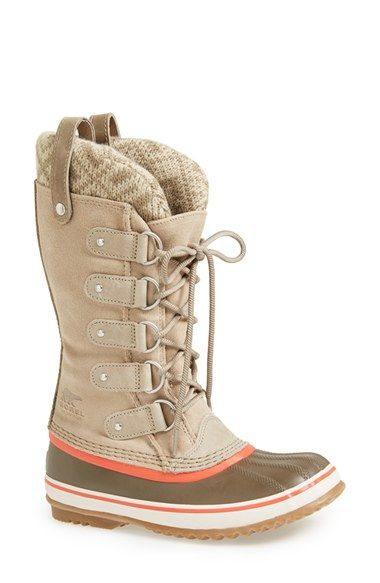 Free shipping and returns on SOREL 'Joan of Arctic - Knit' Waterproof Boot (Women) at Nordstrom.com. Take on winter weather in a waterproof boot designed with a handcrafted, vulcanized rubber shell. The knit cuff and double pull tabs keep the look fresh, while a herringbone sole gives you serious wet-weather traction.