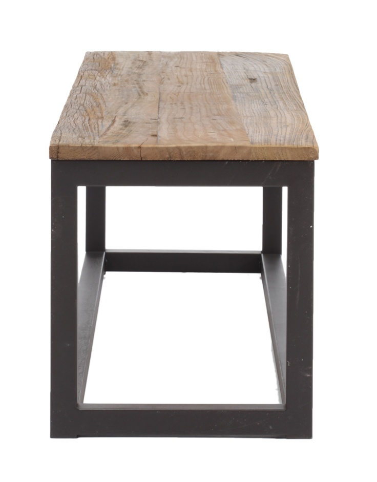 Center Bench Distressed Natural adds an industrial touch to your living space.
