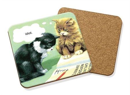 Picture of Idiot Cat - Coaster
