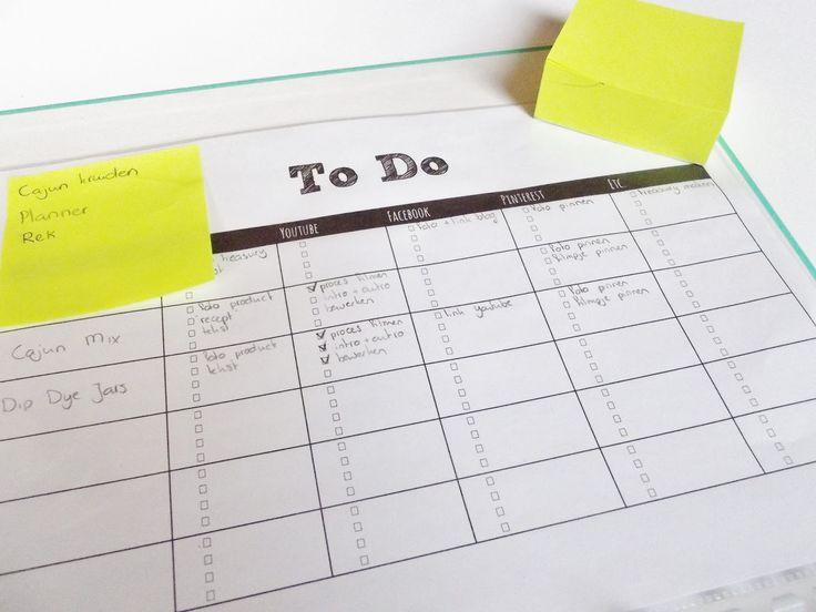 Blog Planner (Editorial Calendar) Free Printables - To Do List/Checklist