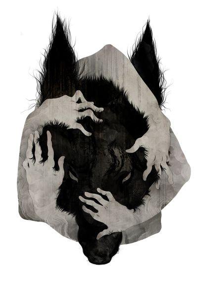 Wild Dog  by Corinne Reid #art