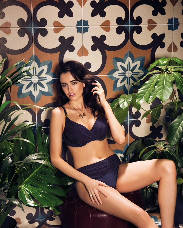Montreal returns in a sophisticated indigo colourway this season, complete with gold antique sliders allowing you to glisten by the poolside.