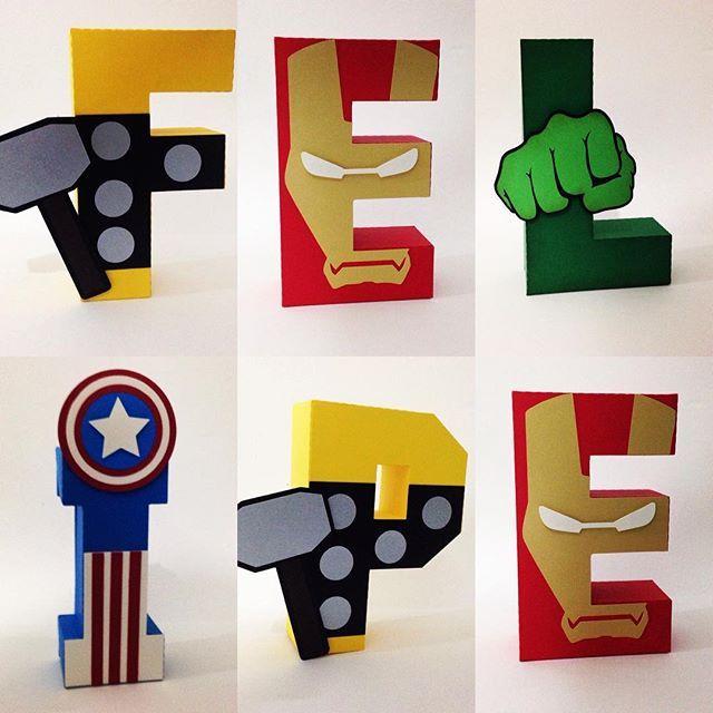 Letras heróis!! 👊🏻👊🏻👊🏻👊🏻👊🏻 #lalui #festaherois #herois