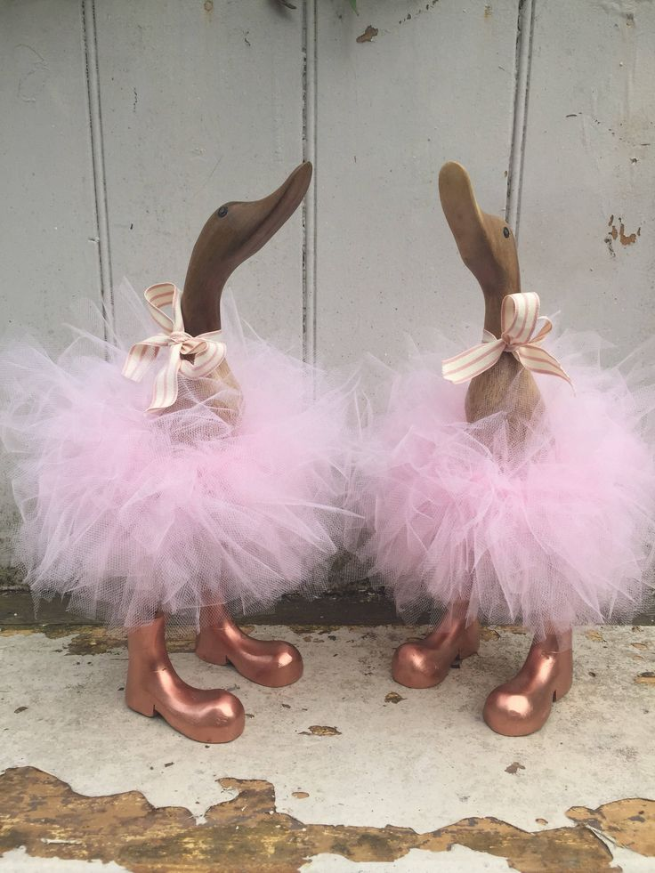 A personal favourite from my Etsy shop https://www.etsy.com/uk/listing/549184757/powder-pink-tutu-duck-with-rose-gold