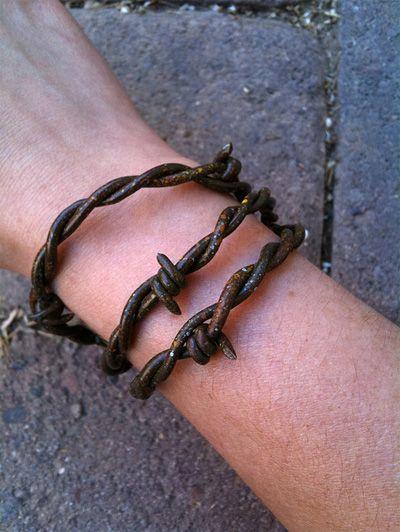 barbed wire bracelets