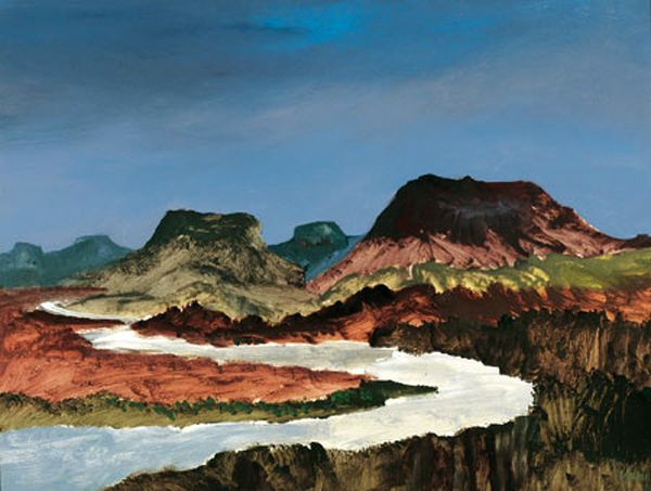Sidney Nolan Landscape C 1981 Paint Pinterest