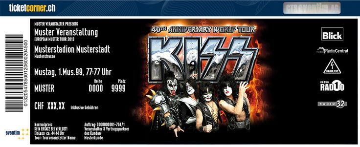 KISS - Die grösste Rockband der Welt zelebriert ihr 40. Jubiläum am 10. Juni 2015 live im Hallenstadion Zürich! Tickets: http://ow.ly/FgThy