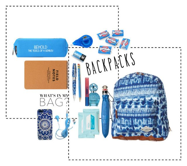 """""""In my backpack"""" by kharismabelle on Polyvore featuring Billabong, Aerie, Marc Jacobs, Montegrappa, Wite, Lipstick Queen, Happy Jackson and Paul Frank"""