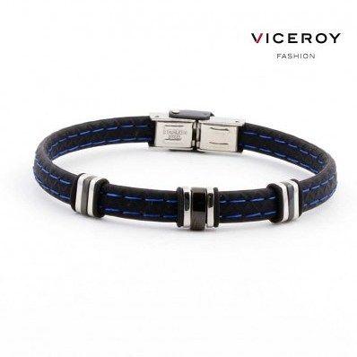 #Pulsera #Viceroy de #hombre de #silicona con pespuntes azules y anillas de acero. http://ift.tt/2gPEbCQ