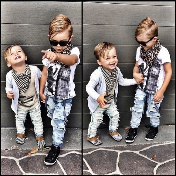 Scarves and ripped jeans...miniature style! From Aussie's Beau Hudson