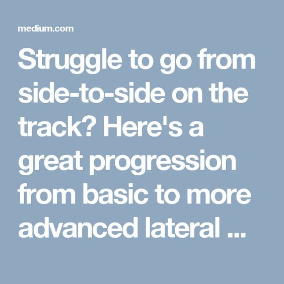 Struggle to go from side-to-side on the track? Here's a great progression from basic to more advanced lateral movement to improve your roller derby game.