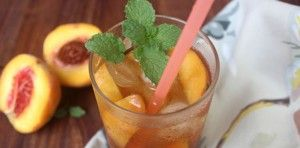 Celebrate Memorial Day with a tall glass of peach iced tea from Food52!
