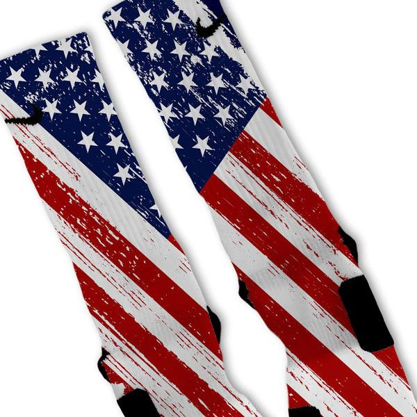 Patriotic Color USA Flag Custom Nike Elite Socks – Fresh Elites