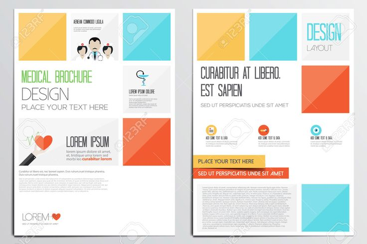 Pops of color can give your brochure and outstanding and recognizable design.