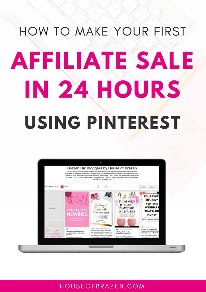 Earn Money From Home House of Brazens eBook filled with useful tips on How to Make Your First Affiliate Sale in 24 Hours Using Pinterest - great find! (aff) You may have signed up to take paid surveys in the past and didn't make any money because you didn't know the correct way to get started!