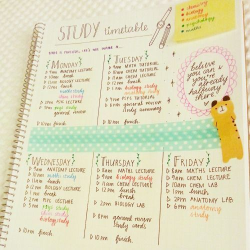 Best 25+ Bullet journal timetable ideas on Pinterest Bullet - study timetable