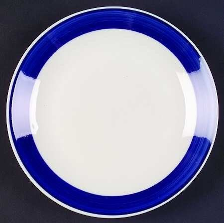 Gibson Designs Basic Living Iii-Cobalt (Blue & White) Salad Plate, Fine China Dinnerware by Gibson Designs. $4.99. Gibson Designs - Gibson Designs Basic Living Iii-Cobalt (Blue & White) Salad Plate - Single Cobalt Blue Band, White Center