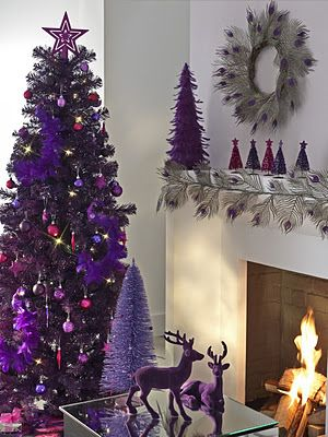 pretty in purple and plum Christmas decor