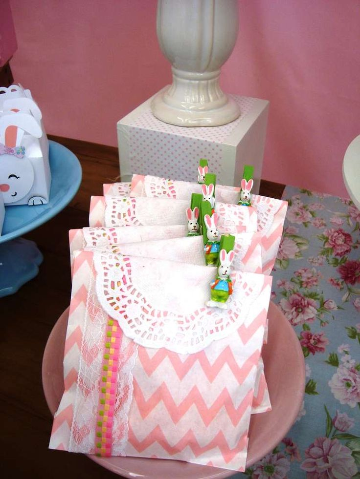 Adorable favors at an Easter party! See more party planning ideas at CatchMyParty.com!