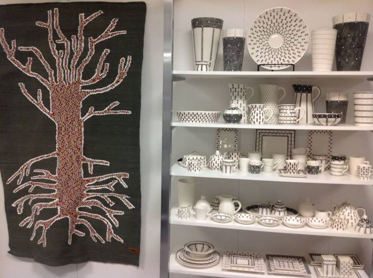 Our beautiful handwoven speckled tree rug matches so nicely the gorgeous pottery of one of our colleagues... at the Beckman's show in Chicago