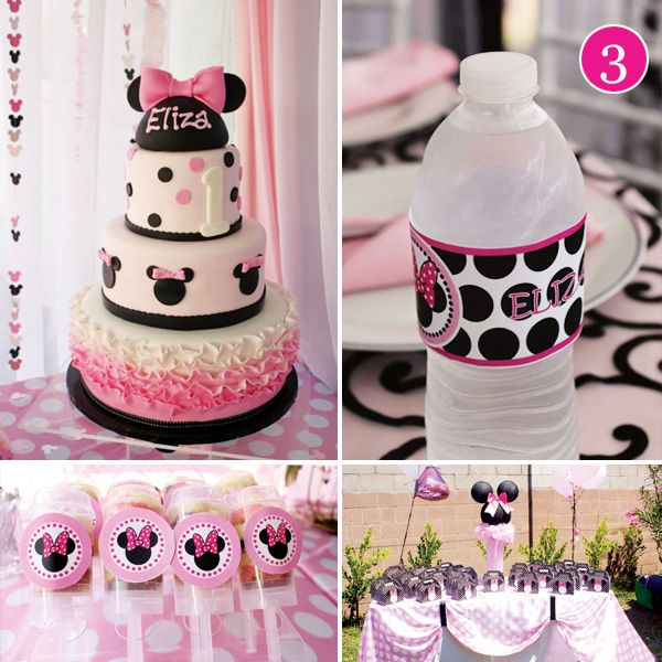 {Party of 5} Girly Safari, Vineyard Wedding, Minnie Mouse First Birthday, Science Party & Candyland