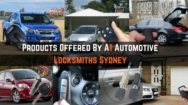 Check out the products that are sold by Sydney-based auto locksmith business A1 Automotive Locksmiths
