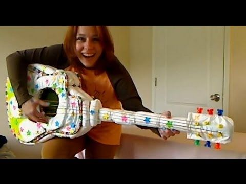 Learn to make this Diaper Guitar! A great tutorial that will assist you in making a super unique gift, display or centerpiece for a Baby Shower. This is great to make for that music lover mommy-to-be or maybe daddy-to-be plays the guitar. The diapers are non re-usable but this package only cost me $6. The generic brands are less costly so use th...