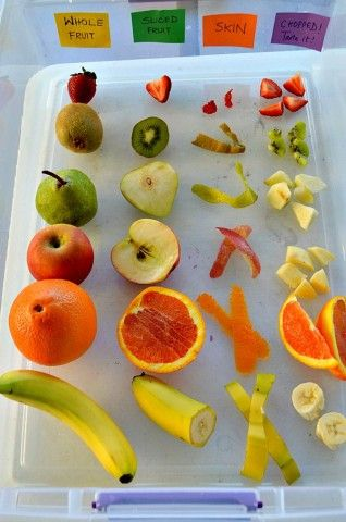 LOVE this idea to explore ALL five senses and healthy eating all at once!