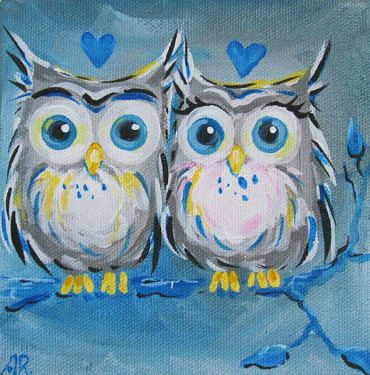 'Love Owls' by Blue Sea Paint Shop