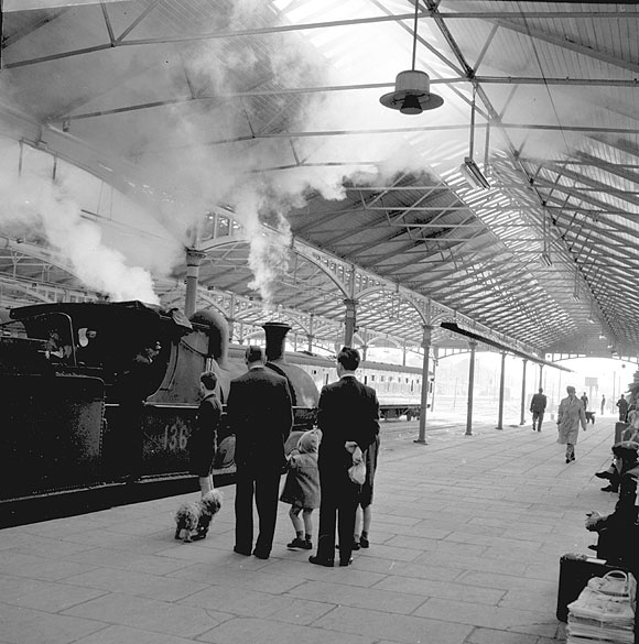 steam train at Kingsbridge station Dun Laighaire1961
