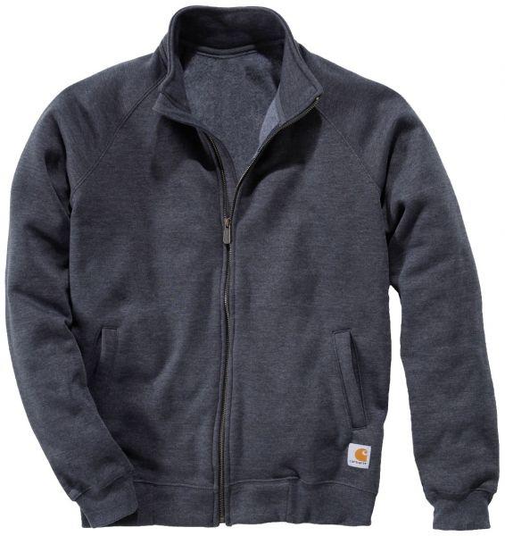 Carhartt Mock Neck Sweatshirt med lynlås, koksgrå melange (K350-CHH) - Overdele - BILLIG-ARBEJDSTØJ.DK