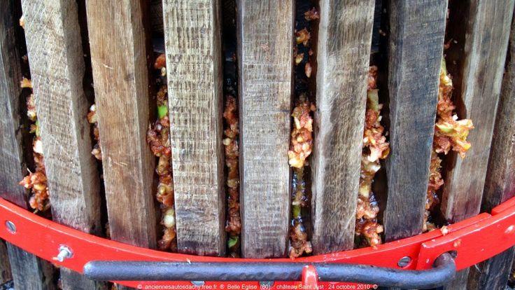Gros plan sur une cage de pressoir à cidre - http://pomme-cidre-tradition.fr/