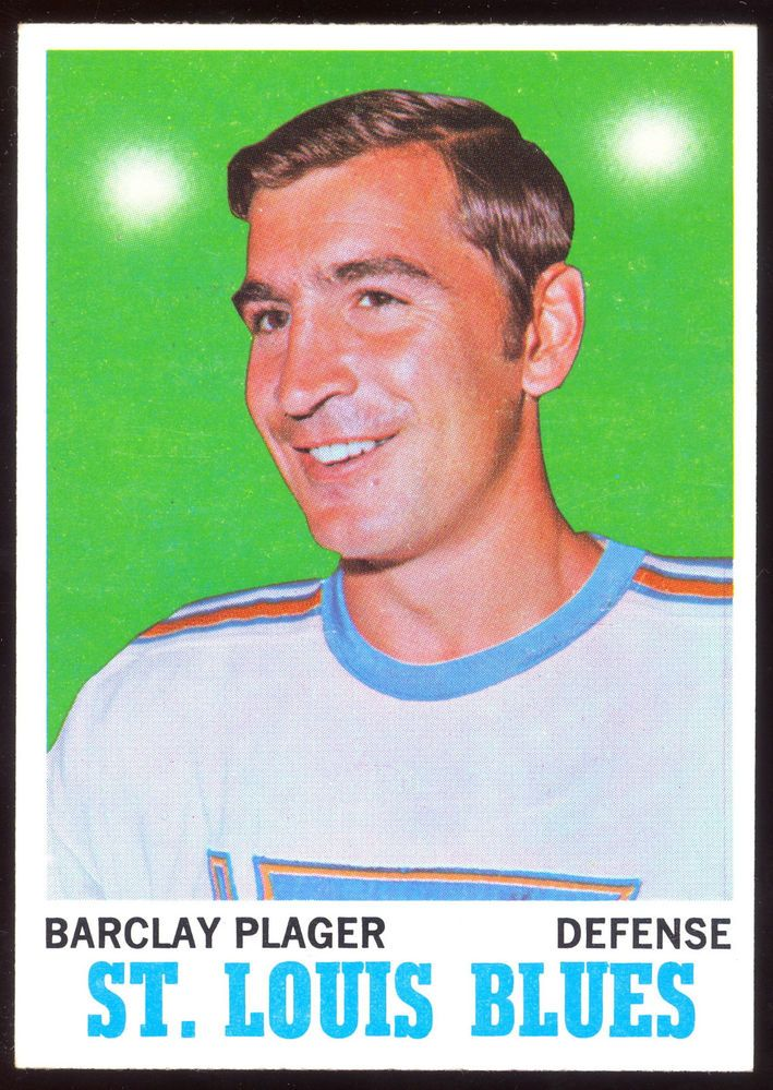 1970 71 TOPPS HOCKEY #99 BARCLAY PLAGER NM COND ST. LOUIS BLUES FREE SHIP TO USA #StLouisBlues