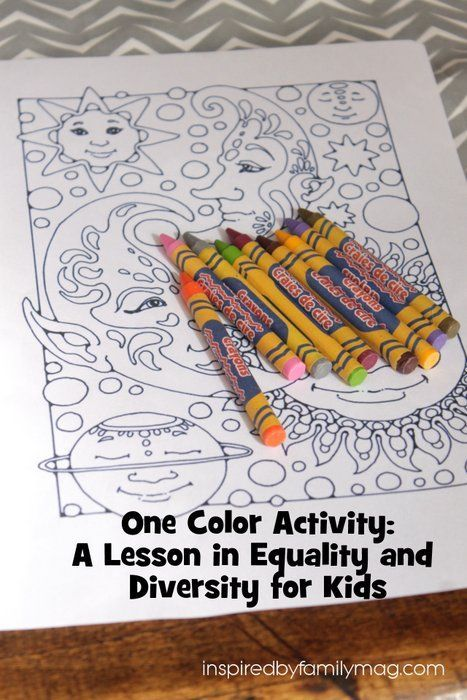 A Lesson in Diversity and Equality for Kids - A Lesson in Diversity and Equality for Kids - I was trying to figure out a way to help my kids better understand what was happening in the times of Martin Luther King Jr. and this really helped them connect it and all I needed was 1 crayon. At what age do you think kids start grasping this concept of equality?