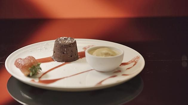Chocolate Fondant with Berry Coulis