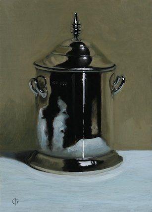 Silver Trinket Pot, 2012 by James Gillick