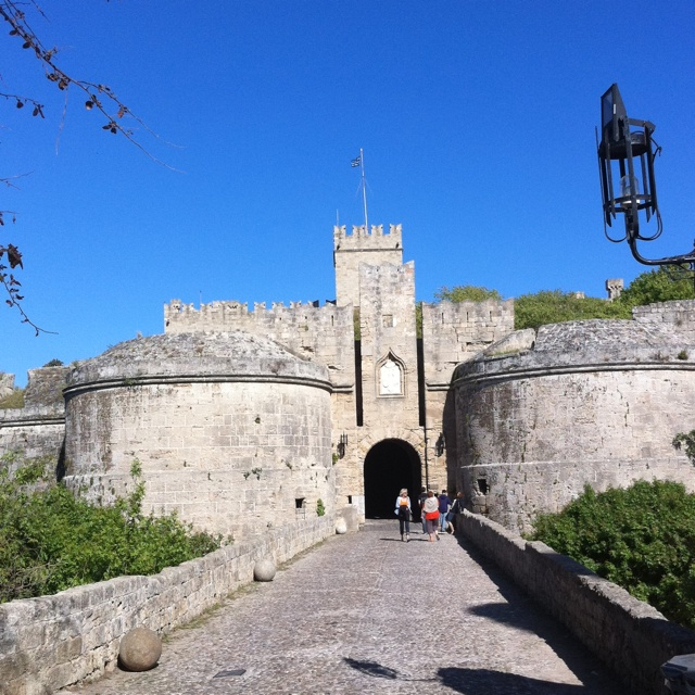 D'Amboise gate, one if the many entrances into the amazing medieval old city of Rhodes.