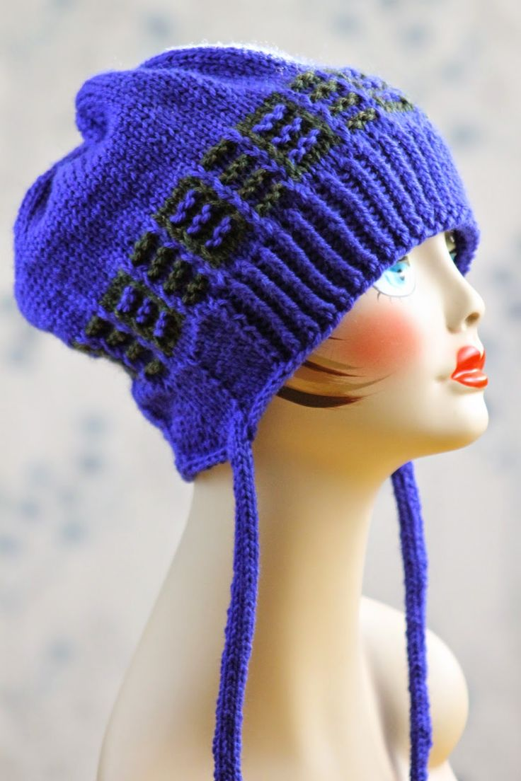 Free Knitting Patterns For Worsted Weight Yarn : Little Ridges Fauxflap Hat: made with roughly 150 yards of worsted weight yar...