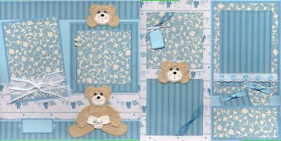 baby boy scrapbook page ideas | Scrapbooking for Others: Baby Boy Scrapbook Layout on Ebay