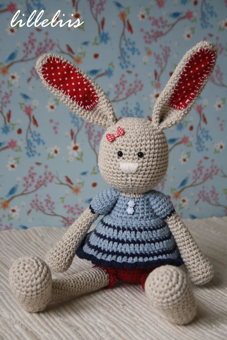 crochet+toys | Frillypants Bunny crochet amigurumi toy by lilleliis on Etsy